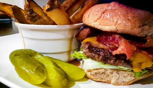 Burger Fries Gravy Pickles