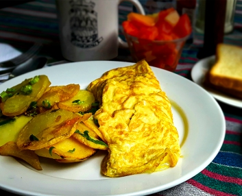 Omelet And Potatoes