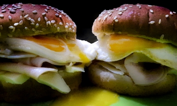 Runny Egg Burgers